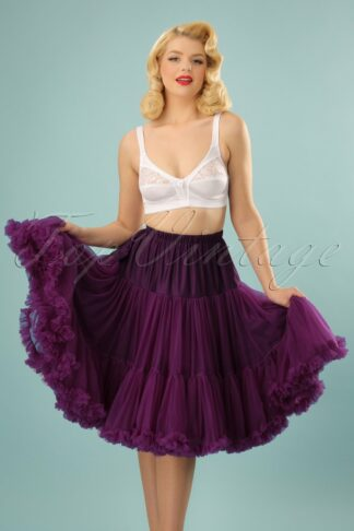 50s Lola Lifeforms Petticoat in Aubergine
