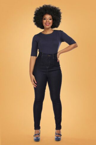 50s Lulu Skinny Jeans in Navy