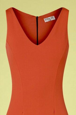 50s Makayla Pencil Dress in Cinnamon