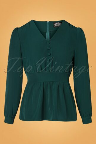 50s Melanie Blouse in Green