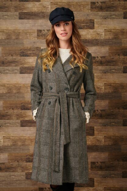 50s Melody Coat in Brown and White