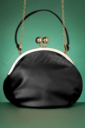 50s Milly Elegant Daytime Bag in Black