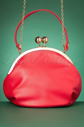 50s Milly Elegant Daytime Bag in Red