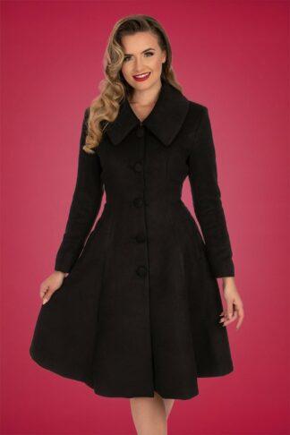 50s Naomi Swing Coat in Black
