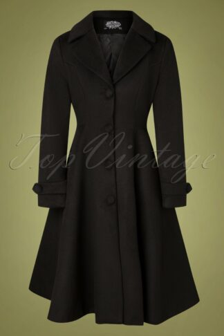50s Pheobe Swing Coat in Black