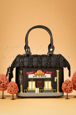 50s Piccadilly Theatre Mini Grab Bag in Black