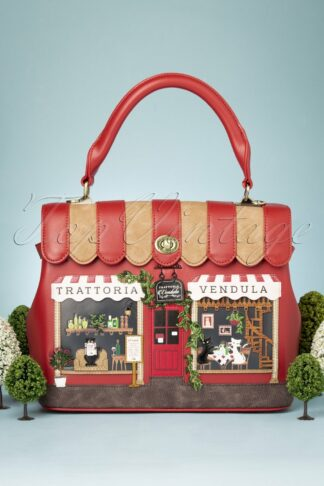 50s Vendula Trattoria Grace Bag in Red and Brown