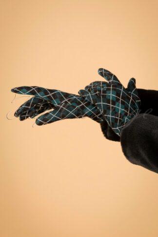 60s Aberdeen Gloves in Dragonfly Blue
