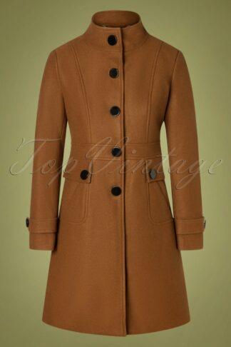 60s Alyssa Coat in Brown