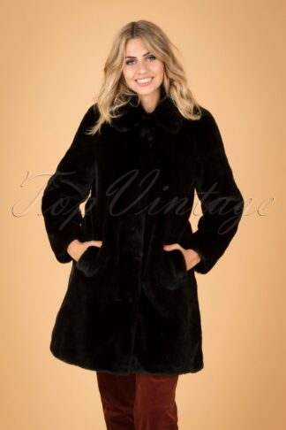 60s Betty Philly Coat in Black