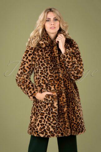 60s Betty Tigresse Coat in Beige