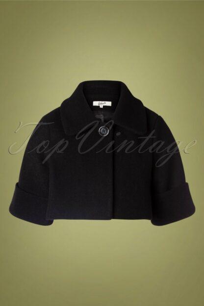 60s Claudie Wool Jacket in Black