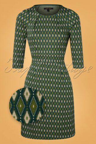 60s Mona Deuce Dress in Pine Green