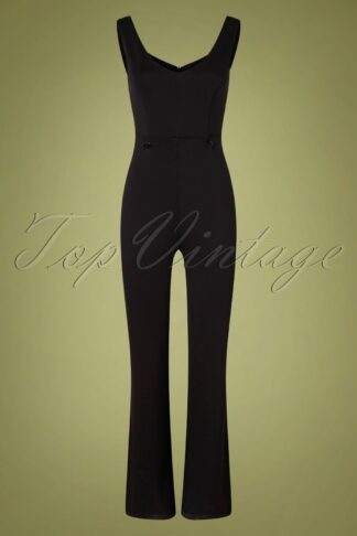60s Monica Mono Jumpsuit in Black