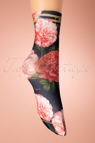 70s Tulipa Socks in Black