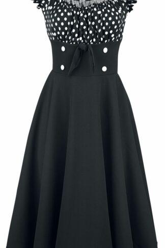 Belsira - Schulterfreies Swing-Kleid - Kleid knielang - schwarz|weiß