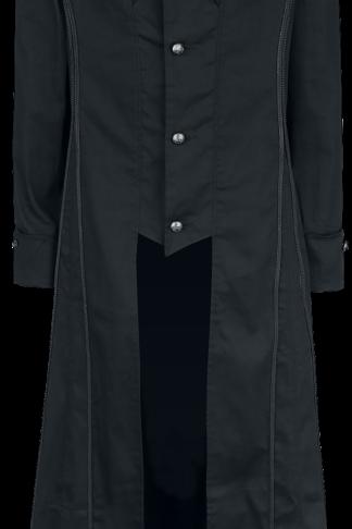H&R London - Black Classic Coat - Militärmantel - schwarz - EMP Exklusiv!