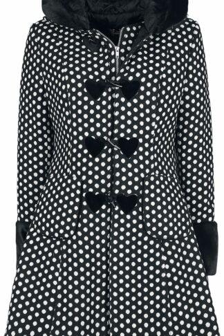 Hell Bunny Amelia Coat Mantel schwarz/weiß