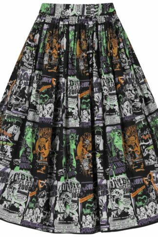 Hell Bunny - Be Afraid 50's Skirt - Kurzer Rock - multicolor