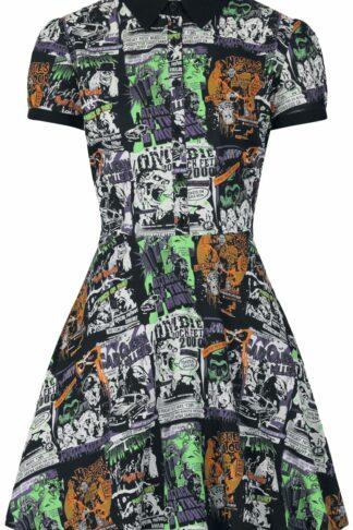 Hell Bunny Be Afraid Mini Dress Mittellanges Kleid multicolor