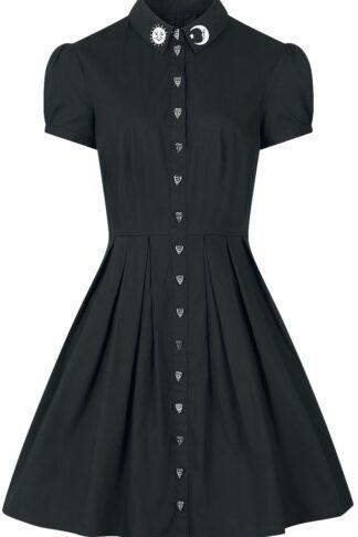 Hell Bunny Button Heart Mittellanges Kleid schwarz