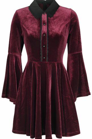 Hell Bunny Prudence Dress Kurzes Kleid bordeaux