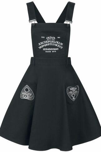 Hell Bunny Samara Pinafore Dress Mittellanges Kleid schwarz
