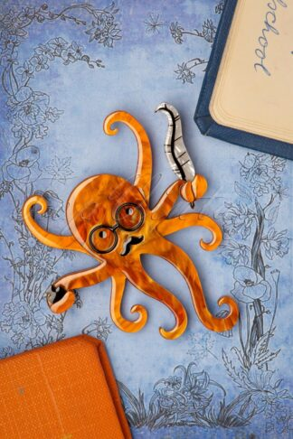 TopVintage exclusive ~ Octavius The Octo-Scribe Brooch