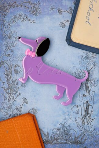 TopVintage exclusive ~ Spiffy The Sausage Dog Brooch