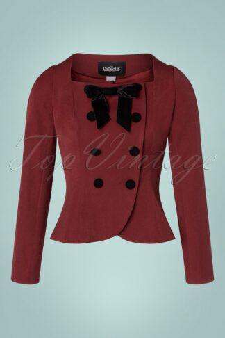 40s Agatha Jacket in Burgundy