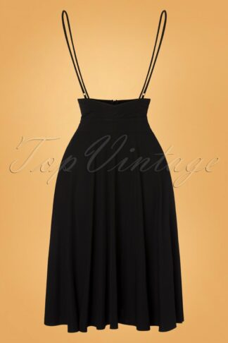 40s Briony Swing Skirt in Black