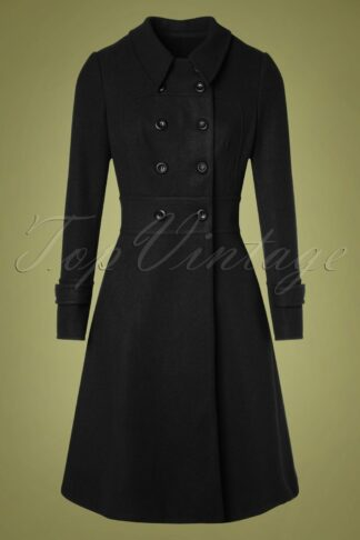 40s Grace Coat in Black