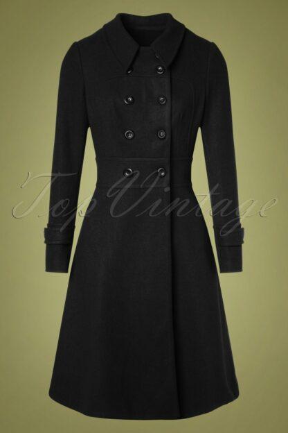 40s Grace Coat in Black