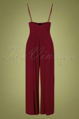 40s Kourt Trousers in Burgundy