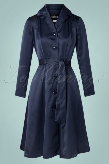 40s Nala Coat in Navy