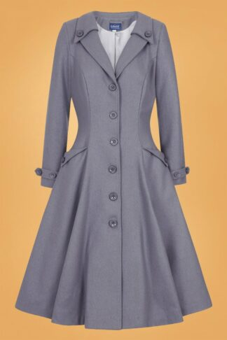 50s Alyssa Swing Coat in Grey
