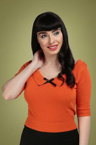 50s Babette Jumper in Orange