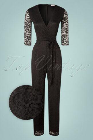 50s Bente Lace Jumpsuit in Black