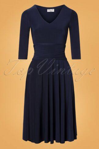 50s Betricia Swing Dress in Navy