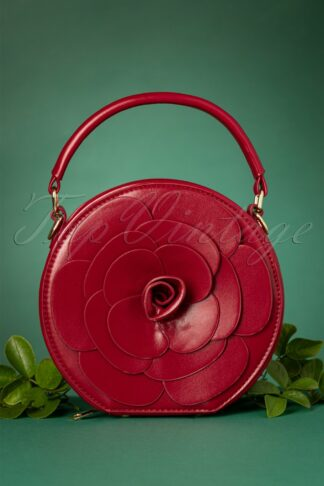 50s Flora Rose Bag in Red
