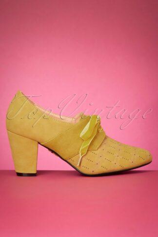 50s Jenny Shoe Booties in Mustard