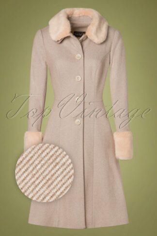 50s Louisa May Coat in Sand