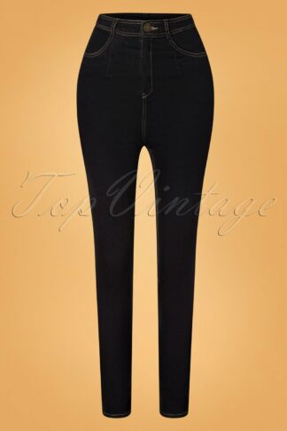 50s Lulu Skinny Jeans in Black