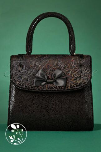 50s Santiago Handbag in Black Velvet