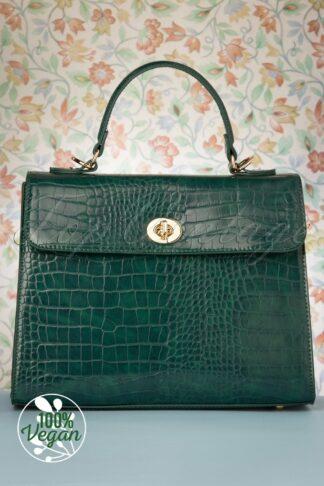 50s Versailles Handbag in Emerald
