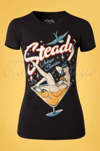 50s Vintage Classics T-shirt in Black