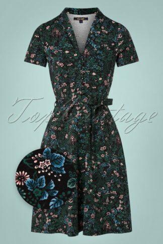 60s Emmy Monterey Dress in Black