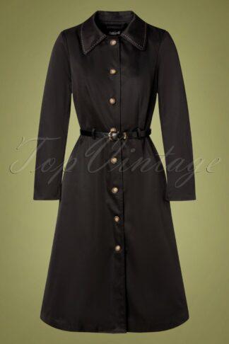 60s Kadence Trench Coat in Black