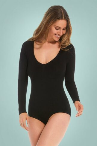 Bamboo Bodysuit in Black