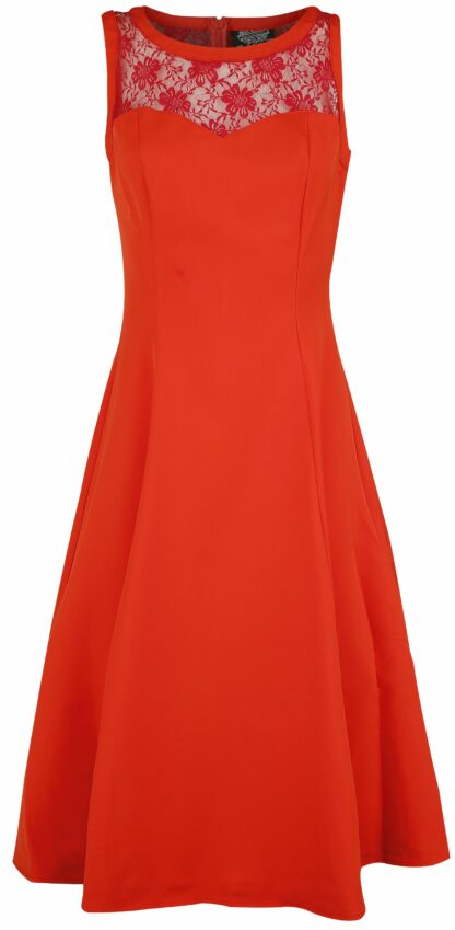 H&R London Amora Dress Mittellanges Kleid rot